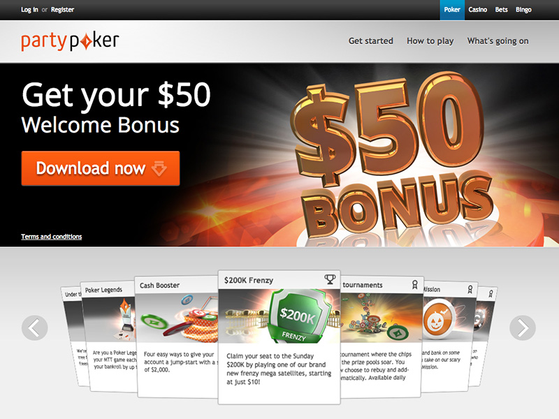 Party poker casino download agua caliente casino